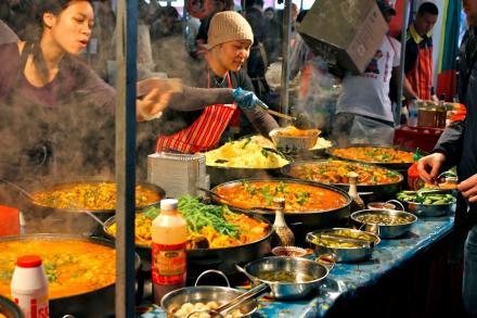 Le food market de Brick Lane