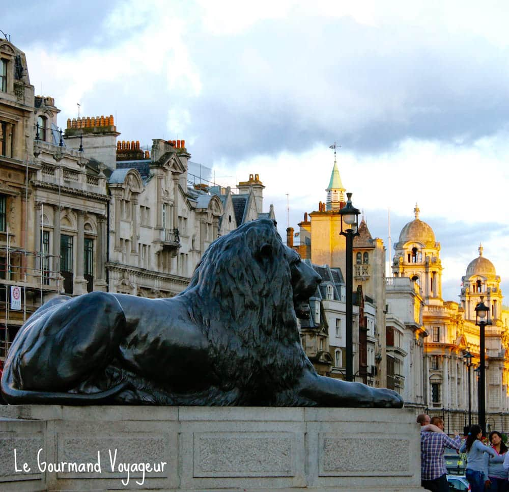 Le lion de Trafalgar Square