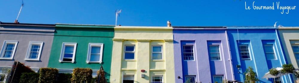 Façades pastels de Notting Hill