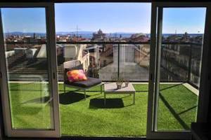Vue sur lisbonne depuis le rooftop du Lisbon Short Stay