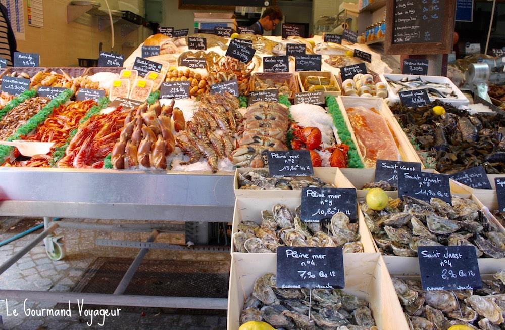 Que faire à Deauville - Blog Le Gourmand Voyageur - marché aux fruits de mer