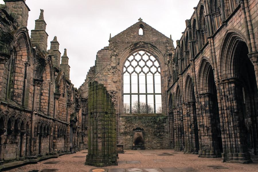 Blog le gourmand voyageur - city break Edimbourg -Holyrood abbaye