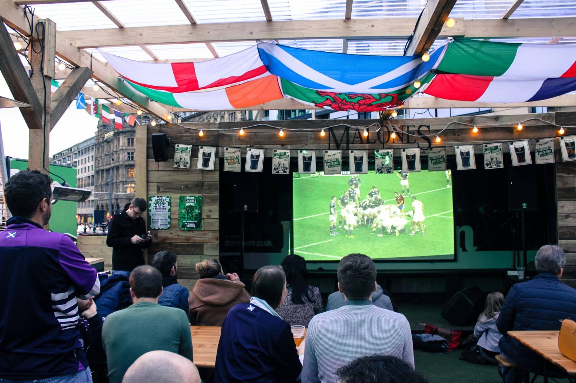 Blog le gourmand voyageur - city break Edimbourg - rugby
