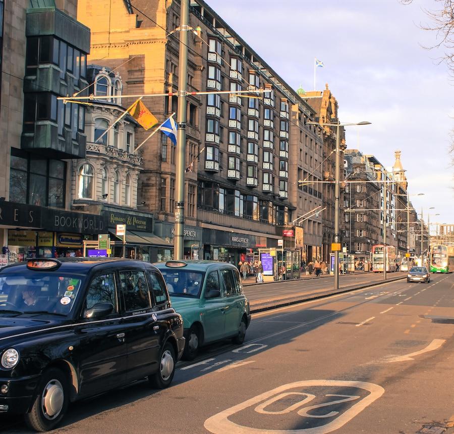 Blog le gourmand voyageur - city break Edimbourg - Prince's Street