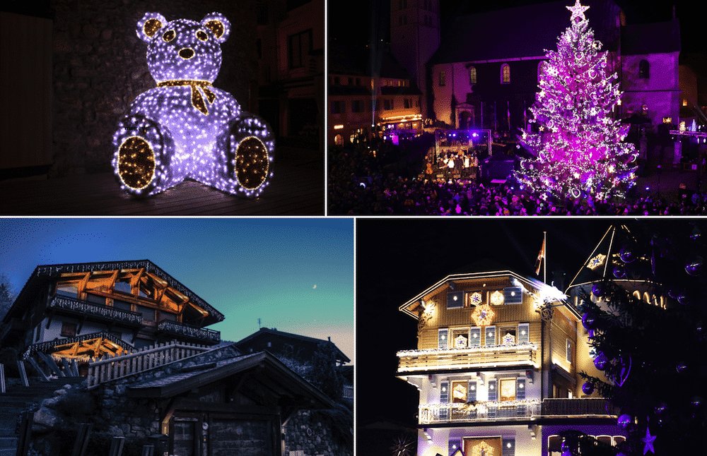 Megève village illuminé